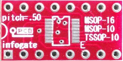 Infogate - MSOP-10/16 ve TSSOP-10 > DIP-16 çevirici soket