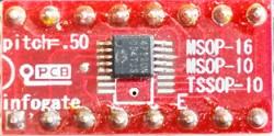 MSOP-10/16 ve TSSOP-10 > DIP-16 çevirici soket - Thumbnail