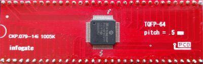 Infogate - TQFP-64 > DIP-64 çevirici soket