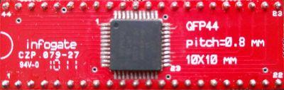 TQFP-44 > DIP-44 çevirici soket
