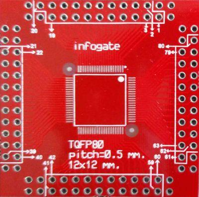 TQFP-80/100 > DIP-80/100 çevirici soket