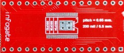 Infogate - TSSOP-32/28/24/20/18/16 > DIP-32 çevirici soket